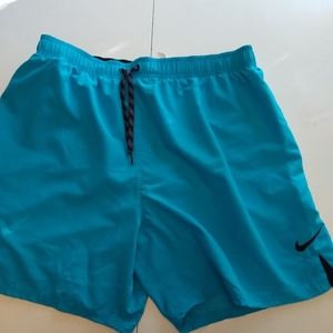 Mens Nike Swim Trunks Size XXL 2XL teal blue black